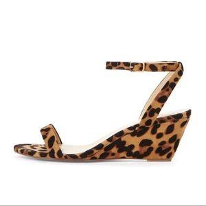 JustFab | Allison Leopard Kitten Wedge Sandals